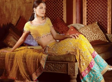 Bridal Wear Dress Yellow Indian Style Sharara