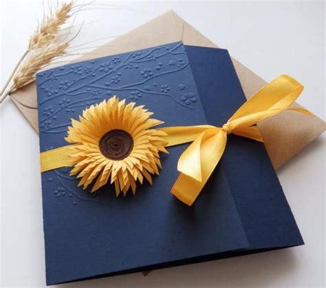 sunflower handmade wedding invitationcountry invitation