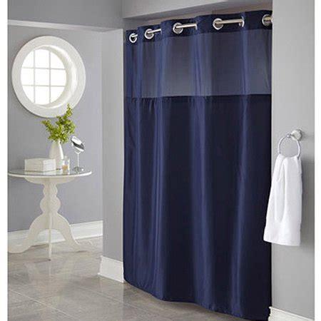 navy blue shower curtain hookless navy mystery polyester shower curtain walmart