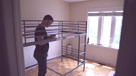 Ikea Loft Bed With Desk Assembly by Ikea Svarta Loft Bed Assembly