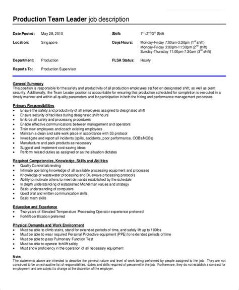 Sample Production Supervisor Cover Letter Resume