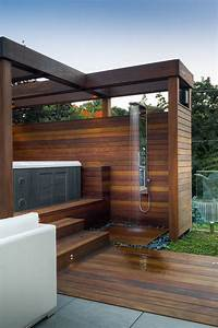 Luxury Outdoor Hot Tub Patio Contemporary With Stair