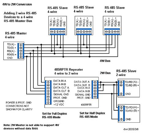 rs485 2 wire connection diagram volovets info
