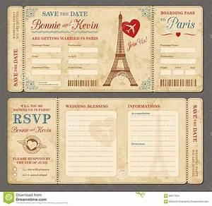 Paris Wedding Invitation Stock Vector Image: 58517654