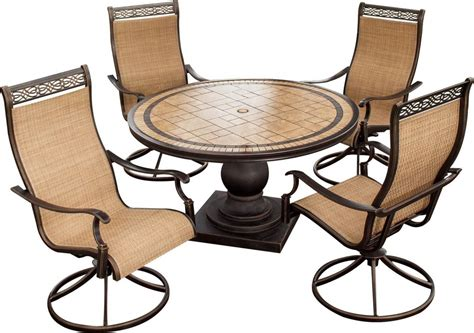 hanover monaco 5 outdoor dining set with high back