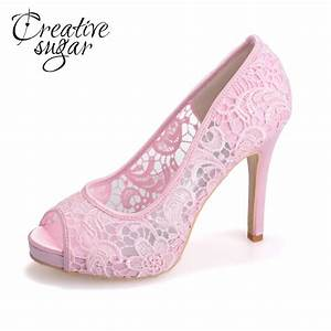creativesugar see through mesh lace bridal wedding party With dress shoes for wedding party