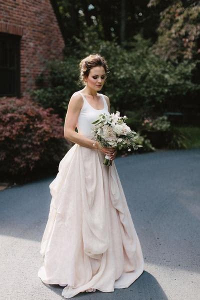 casual backyard wedding dresses  irregular skirt