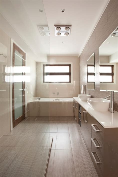 Neutral Bathrooms by Modern Neutral Bathroom Tile Inspiration