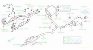 2011 Subaru Outback Exhaust System Hanger Bracket  Bracket