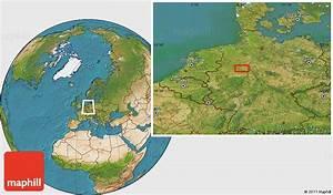 Satellite Location Map Of Aschen