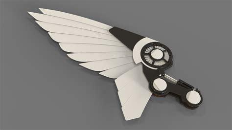 robot wing  model  turbosquid