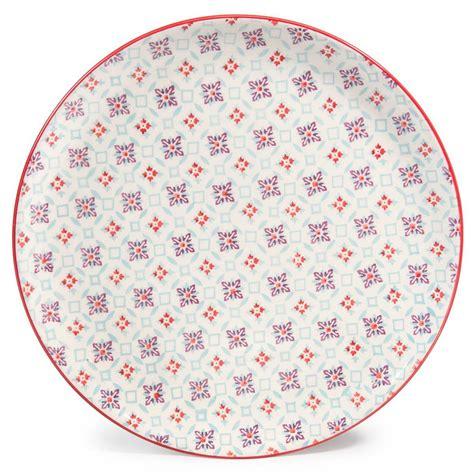 assiette plate en fa 239 ence d 27 cm cocotte maisons du monde