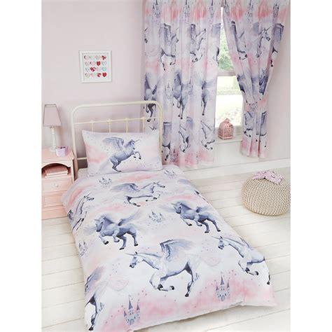 chambre 160x200 pink stardust unicorn single duvet cover pillowcase