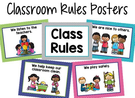 pre k classroom prekinders 869   class rules poster