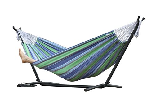 Vivere 8 Ft. Combo Double Hammock With Stand In Oasis