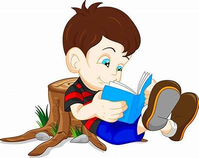 Reading Boy Vector Cartoon Children Education Animated