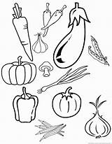 Vegetable Vegetables Coloring Pages sketch template