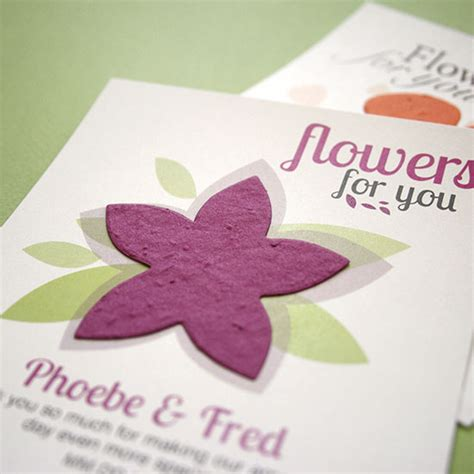 Modern Flower Plantable Seed Paper Favor Ecopartytime