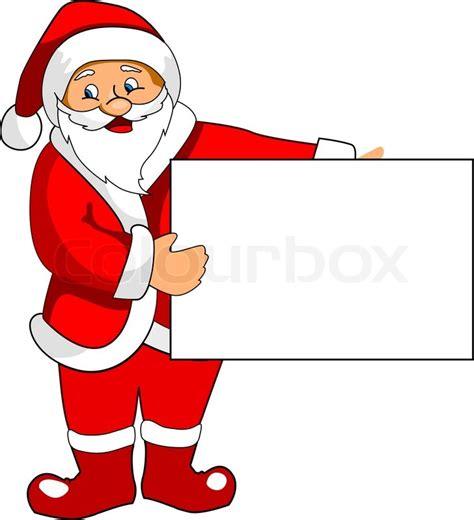 lustige weihnachtsmann bilder santa claus with blank paper for design stock vector colourbox