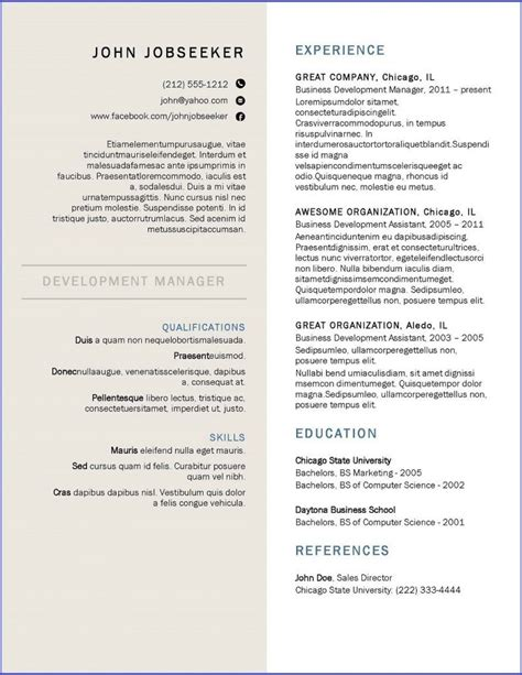 Resume Canada by Canada Resume Template Resume Downloads Creative