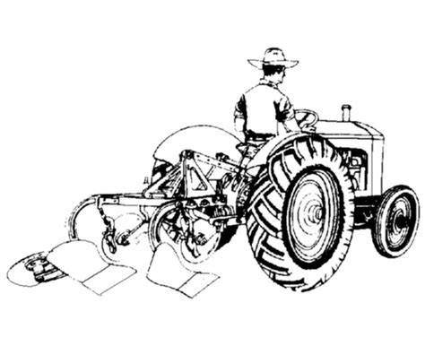 vista posteriore   trattore disegni da colorare