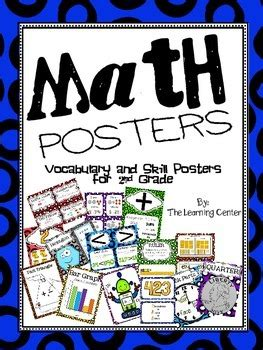 2nd Grade Math Posters By The Learning Center  Teachers Pay Teachers