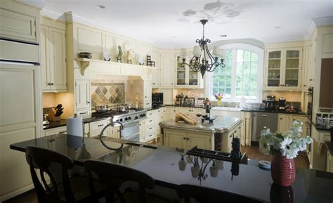 kitchen island eat in eat in kitchen with island wine and baguettes stock photo 5053