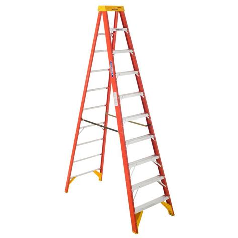 ladder review werner 10 ft fiberglass step ladder with 300 lb load capacity type ia duty rating 6210 the