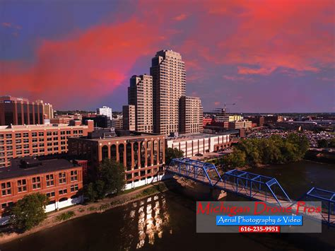 grand rapids photographers downtown grand rapids aerial drone photography