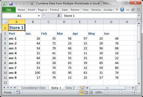 Consolidate Multiple Worksheets  How To Consolidate Multiple Spreadsheets In Excel Merge Sheets
