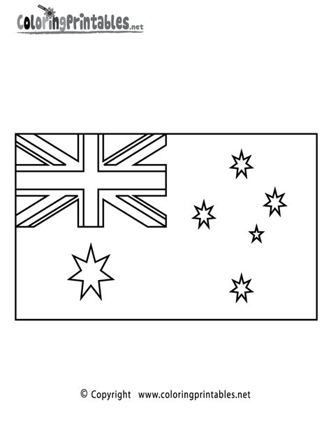 australia flag coloring page   travel coloring printable