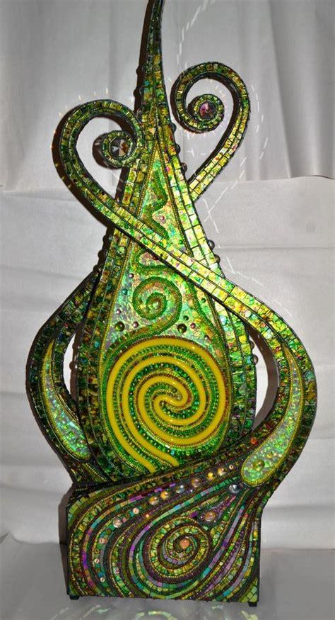 mosaic illuminations sculptures light boxes upcycle art