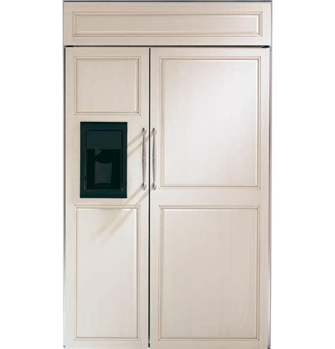 ge monogram  built  side  side refrigerator  dispenser zisbdx ge appliances