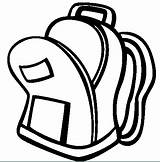 Backpack Clip Clipart Coloring Pages Clipartix Open Colorear Para Bag Cartoon Mochila Backpacks Related Library sketch template