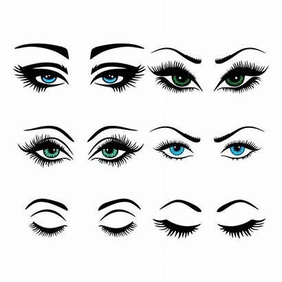 Eye Lashes Clipart Lash Cuttable Silhouette Svg