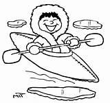 Eskimo Coloring Pages Kayaking Kayak Drawing Getdrawings Printable Bulb Found Getcolorings sketch template