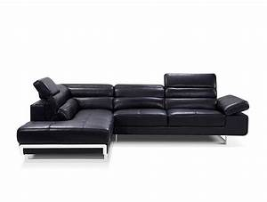 modern black leather sectional sofa ff125 black leather With modern black leather sectional sofa ff125