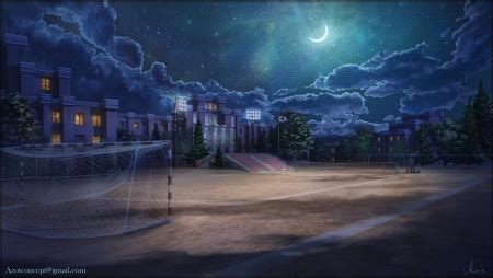 school ground  night fantasy abstract background