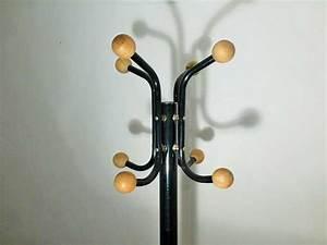 Porte Manteau Vintage : porte manteau vintage metal et bois 1970 ~ Teatrodelosmanantiales.com Idées de Décoration