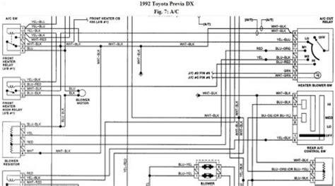 Toyota Previa Switch Problem Blower Motor