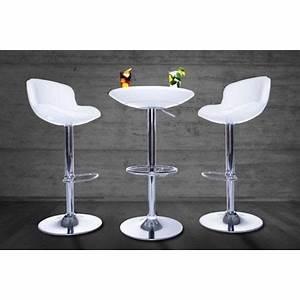 Table De Bar Ronde : table de bar ronde blanc laqu select achat vente mange debout table de bar ronde select ~ Teatrodelosmanantiales.com Idées de Décoration