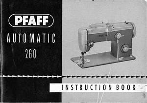 Pfaff 260 Sewing Machine Manual