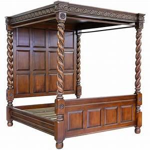 Mobilier En Anglais : lit baldaquin anglais tudor en acajou horsham meuble de style ~ Melissatoandfro.com Idées de Décoration