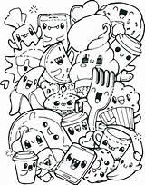 Breakfast Coloring Pages Food Healthy Getdrawings sketch template