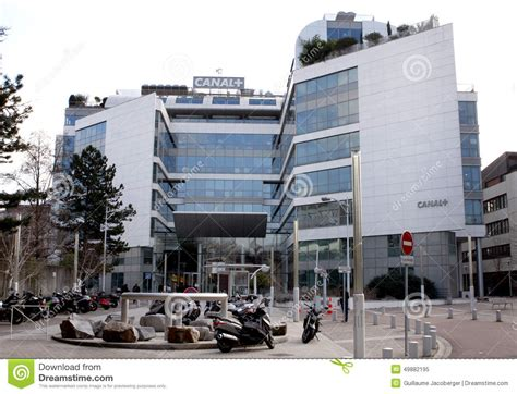 bureau canal plus canal plus tv building editorial image image of