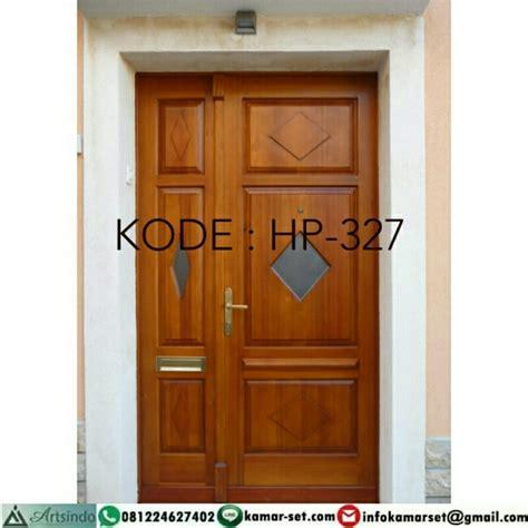 model pintu rumah minimalis klasik modern kayu jati jepara