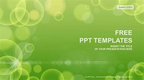 green circle abstract powerpoint templates