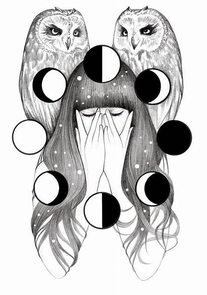 Moon Spells Hrnjak Andrea Witch Andreahrnjak Drawings