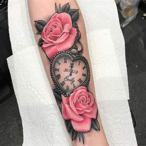 heart shaped pocket   pink roses  today  beth cheers tattoos locket tattoos