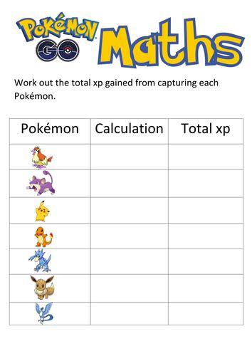 pokemon maths  sarahmaylord teaching resources tes